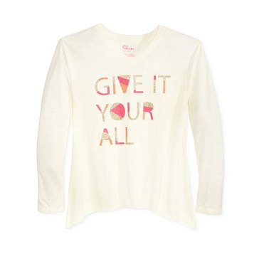 Epic Threads Big Girls' Give It Your All Hilo Tee
