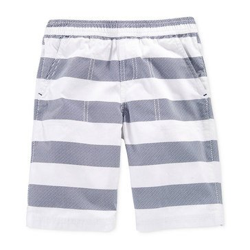Epic Threads Little Boys' Rugby Stripe Shorts, Bright White