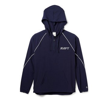 Soffe Men's Navy Game Pullover Quarter Zip Hoodie