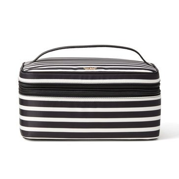 Kate Spade Classic Nylon Micah Cosmetic Case Black/ Cream