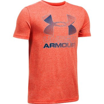 Under Armour Big Boys' Big Logo Hybrid 2.0 Tee, Dark Orange