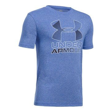 Under Armour Big Boys' Big Logo Hybrid 2.0 Tee, Ultra Blue