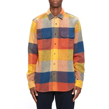 Obey Men's Wallace Long Sleeve Heavy Twill Plaid Woven Shirt