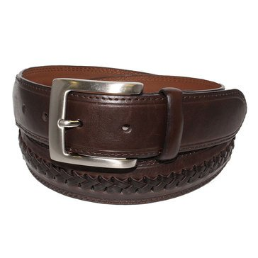 Izod Center Laced Braid Belt - Brown