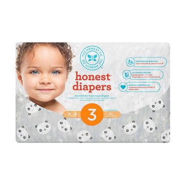 The Honest Company Diapers, Panda - Size 3, 34-Count