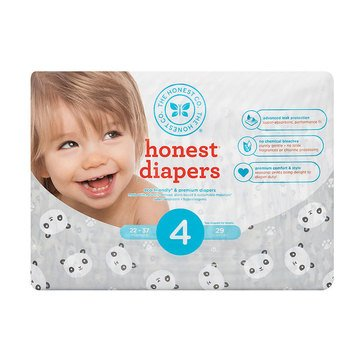 The Honest Company Diapers, Panda - Size 4, 29-Count