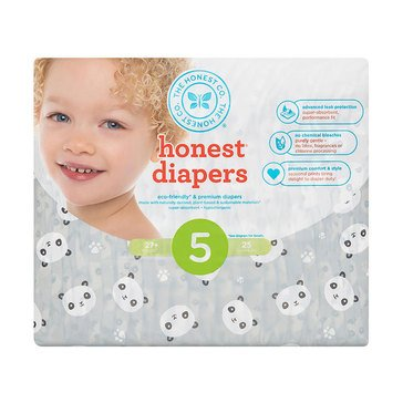 The Honest Company Diapers, Panda - Size 5, 25-Count