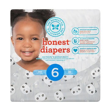 The Honest Company Diapers, Panda - Size 6, 22-Count