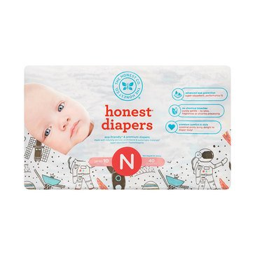 The Honest Company Diapers, Space Travel - Size N, 40-Count