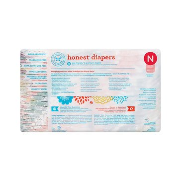 The Honest Company Diapers, Rose Blossom - Size N, 40-Count