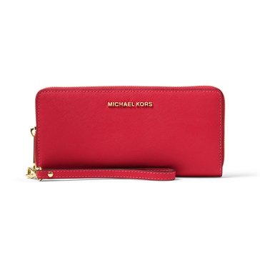 Michael Kors Jet Set Travel Continental Wallet Bright Red