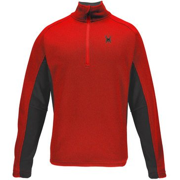 Spyder Men's Outbound Half Zip core Sweater Red