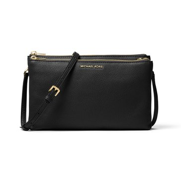 Michael Kors Double Zip Crossbody Black