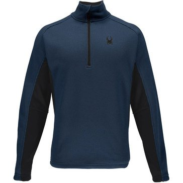 Spyder Men's Outbound Half Zip Core Sweater Blue