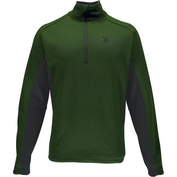 Spyder Men's Outbound Half Zip Core Sweater Green