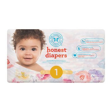 The Honest Company Diapers, Rose Blossom - Size 1, 44-Count