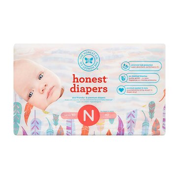 The Honest Company Diapers, Painted Feathers - Size N, 40-Count