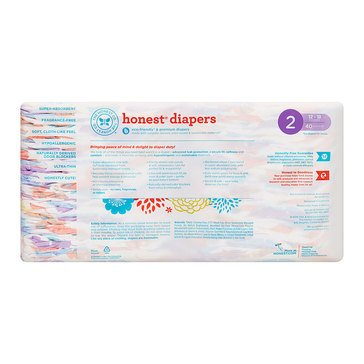 The Honest Company Diapers, Painted Feathers - Size 2, 40-Count