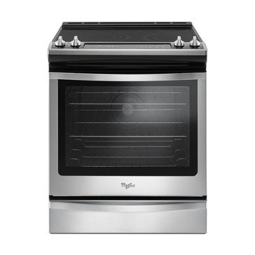 Whirlpool 6.4-Cu.Ft. Slide-In Electric Range with True Convection, Stainless Steel (WEE745H0FS)