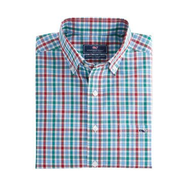 Vineyard Vines Men's Winterberry Check Classic Tucker Sportshirt