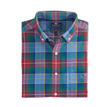 Vineyard Vines Men's Greenhedge Flannel Slim Tucker Sportshirt