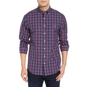 Vineyard Vines Men's Poinsettia Plaid Slim Tucker Sportshirt