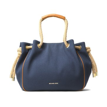 Michael Kors Dalia Large Shoulder Tote Navy