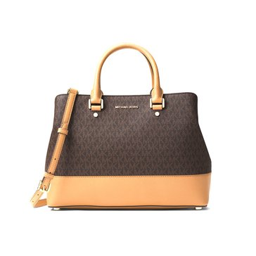 Michael Kors Savannah Large Satchel Brown Acorn