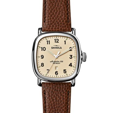 Shinola Unisex The Guardian Brown Leather Watch, 41mm