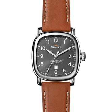Shinola Unisex Guardian Tan Leather Strap Watch, 41mm