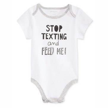 First Impressions Newborn Bodysuit, Stop Texting