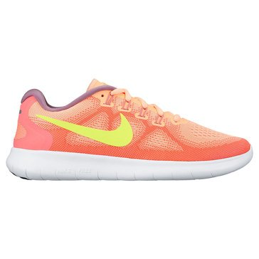 Nike Free RN 2 Women's Running Shoe Sunset Glow/ Volt/ Hot Punch/ Violet Dust