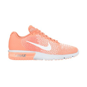 Nike Air Max Sequence 2 Women's Running Shoe Sunset Glow/ White/ Hyper Orange/ White