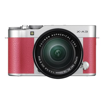 Fuji X-A3 Digital Mirrorless Camera with 16-50MM Lens - 24.2MP - CMOS Sensor - Pink