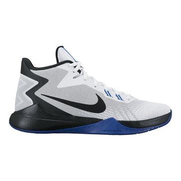 Nike Zoom Evidence Men's Basketball Shoe White/ Black/ Varsity Royal