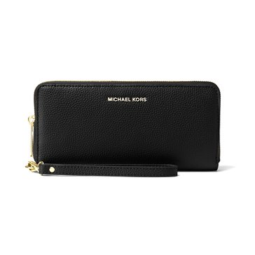 Michael Kors Mercer Travel Continental Wallet Black
