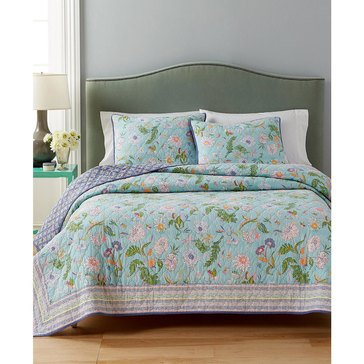 Martha Stewart Collection Sophie Floral Quilt - Full/Queen
