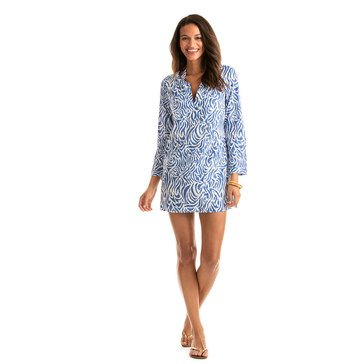 Vineyard Vines Zebra Print Coverup in Royal
