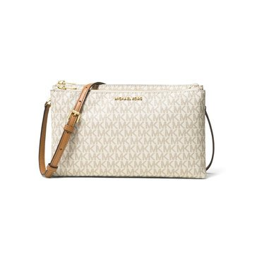 Michael Kors Double Zip Crossbody Vanilla