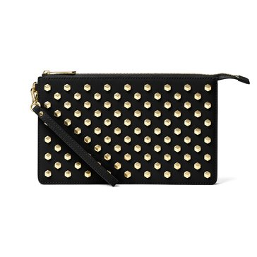 Michael Kors Daniela Large Studded Leather Wristlet