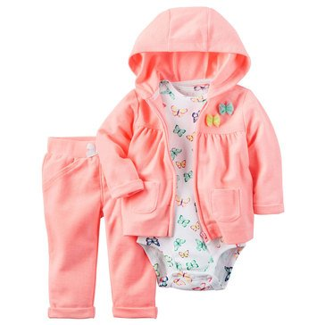 Carter's Baby Girls' 3-Piece Neon Cardigan Set