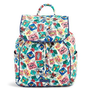 Vera Bradley Drawstring Backpack Cuban Stamps