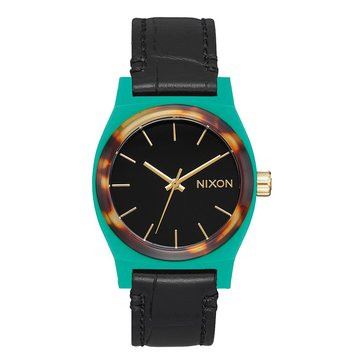 Nixon Women's Time Teller Watch A1172-2707, Green Silicone/ Acetate 31mm