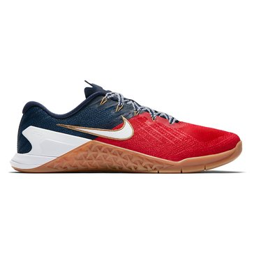 Nike Metcon 3 Men's Training Shoe Universal Red/ White/ Midnight Navy