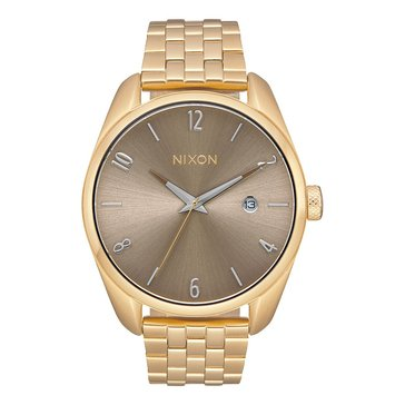 Nixon Women's Bullet Watch A418-2702, Taupe/ Stainless Steel 38mm