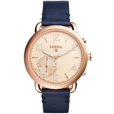 Fossil Q Women's Tailor Smart Watch Non Display Rose With Navy Strap 40mm