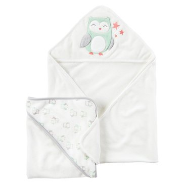 Carter's Newborn 2-Pack Owl Hooded Towels