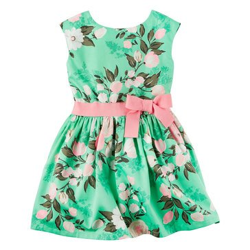 Carter's Toddler Girls' Easter Flower Print Sateen Dress