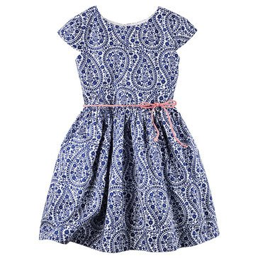 Carter's Toddler Girls' Easter Paisley Print Sateen Dress