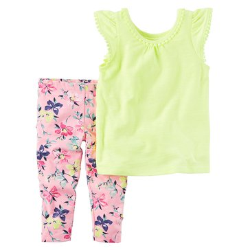 Carter's Toddler Girls' 2-Piece Knit Legging Set, Yellow
